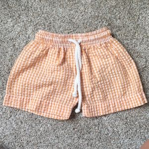 Other - Baby boy orange and white gingham swimsuit